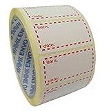 500 x Etiquetas Adhesivas Para Congelador, Tamaño 50x25mm, Autoadhesivo Pegatinas De Refrigeración