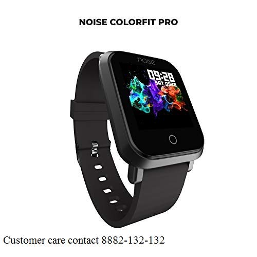 Noise ColorFit Pro Smartwatch - Classic Jet Black | Bluetooth Smart Band with Detachable Strap | Wide Screen Waterproof | Sports and Activity Tracker | Camera and Music Control Features for Android and iOS Devices