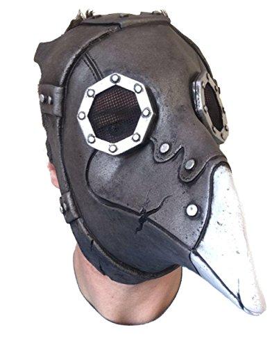 Gummi Johnnies International Pest Doctor, Steampunk lange Nase Maske, Latex, Day of the dead, Bird Schnabel