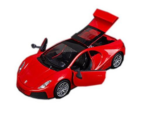 Supercar Modell mit Licht 1:32 Auto-Spielzeug für Jungen RED