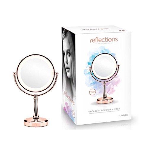 BaByliss Reflections Espejo de tocador iluminado, en oro rosa