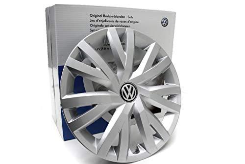 Original Volkswagen Radkappen 16 Zoll Radzierblenden 4x Kappen VW Golf 7 (5G) Golf Sportsvan Touran II (5T) brilliantsilber 5G0071456YTI