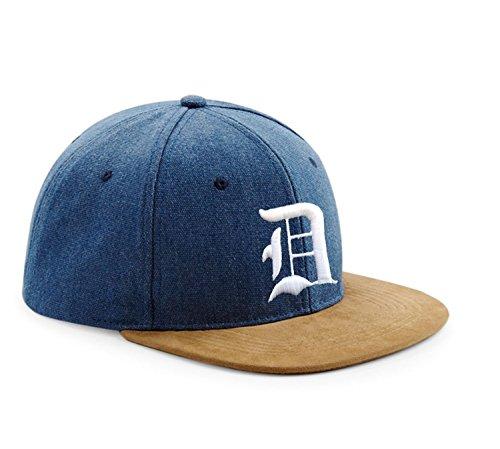Snapback Cap toit en suède Casquette de Baseball Bonnet Chapeau Snap back 3D Gothique A-Z (D)