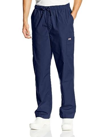 Cherokee mens Ww Men's Drawstring Cargo Scrub Pant Medical Scrubs Pants  - Blue -