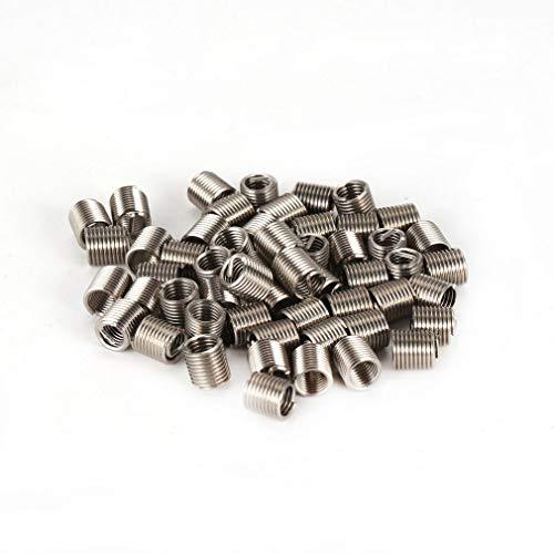 Leoboone 50 STÜCKE Gewindeeinsätze M5 0,8 2D Edelstahl Draht Helicoil Verbindungselemente Hardware Reparatur Werkzeuge Schraubhülsen Set