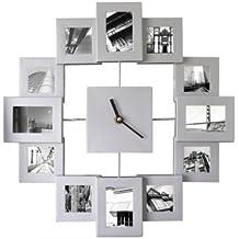 XXL 45cm foto cornice portafoto Orologio da parete immagini foto orologio orologio con cornice in alluminio immagini Orologio