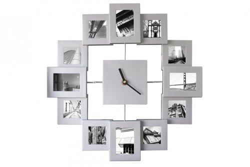 XXL 45cm Fotorahmen Uhr Bilderrahmen Wanduhr Bilder Fotouhr Bilderrahmenuhr aus Alu Bilderuhr