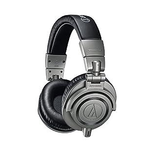 Audio Technica ATH-M50XGM Professional Monitor Headphones, Gun Metal, incl. hard case for headphones