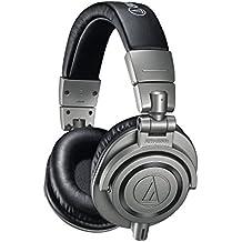 Audio-Technica ATH-M50XGM - Auriculares profesionales para monitorización en estudio, estuche rígido incluido, color Gris (Gun Metal)