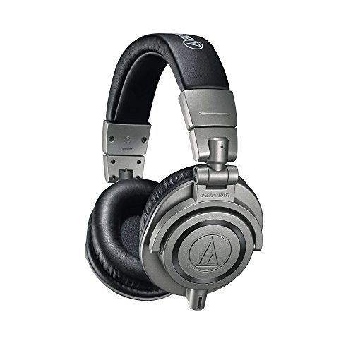Audio-Technica ATH-M50XGM Casque Professionnel Fermé de Monitoring, Gris Métallique, étui rigide inclus