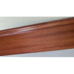 Rodapie 7€/pieza, rechapado de madera natural, SAPELY - 6 unidades