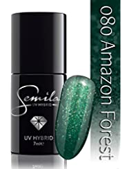 Semilac UV Vernis à ongles hybride, N ° 080, 7 ml, Amazon Forest
