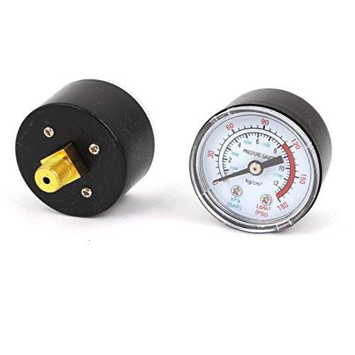 DealMux 2 Stück Luftkompressor 1 / 8PT Thema 0-12bar 0-170psi Druckmesser