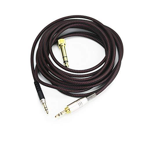 Câble Audio de Rechange Compatible avec Audio-Technica ATH-M50xBT, ATH-AR3BTBK, ATH-SR50BT, ATH-ANC9, ATH-ANC7B, ATH-SR5BTBK, ATH-S700BT 3 m