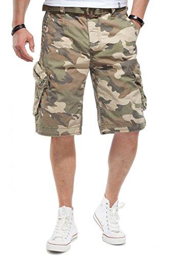 JET LAG Herren Cargo Shorts Take off 3 Modell 16 in schwarz, olive, stone, cement, gold und camouflage Camouflage
