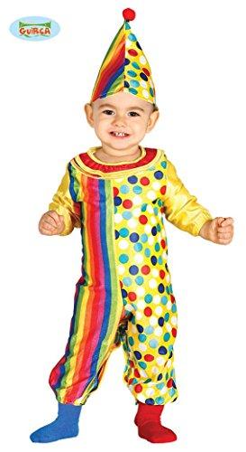 Baby Clown Kostüm für Kinder Clownkostüm, Größe:86/92