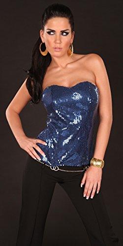 Sexy Bikini-Pailletten-Korsage Koucla by in-Fashion Style SKU 0000C76008 Blu