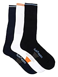 Hush Puppies Mens Sport Calf Length Soft Combed Cotton Pack of 3 Pair Socks
