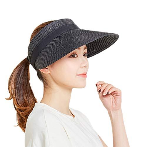 Demarkt Sonnenschild Visor Damen Visier Strand Stroh Sonnenhut Visoren Hüte Outdoor Sport Strohhut