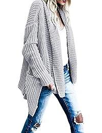 Giacca A Maglia Donna Eleganti Moda Pullover Aperto A Forcella Cardigan  Autunno Invernali Relaxed Chic Casual