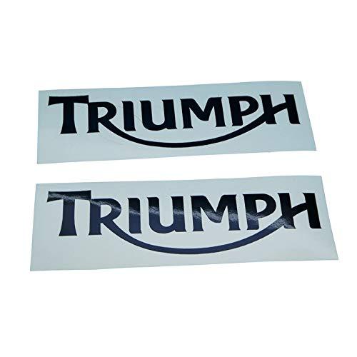 Triumpf Schriftzug Logo Aufkleber in schwarz, Ersatzteil Sticker oder als Tank Schriftzug Dekor. Zum Oldtimer Restaurieren von Lack und Verkleidung. Alternativ zum Motorrad Emblem