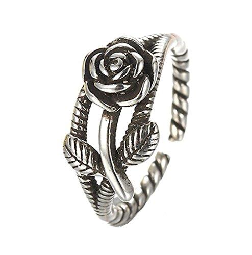 Meigold Rose Ring offen Ring Einstellbar Damen Ring Schmuck Thai Silber