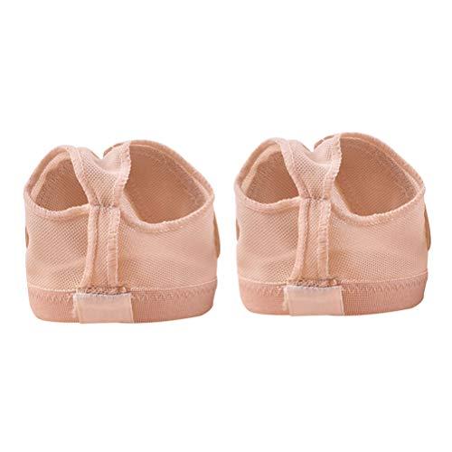 BESPORTBLE Professionelle Bauch Ballett Tanzkappe Praxis Schuhe Schutz Dance Socken Fuß Thongs Fußpflege Werkzeuge für Frauen Männer (Teint - Beige Thong