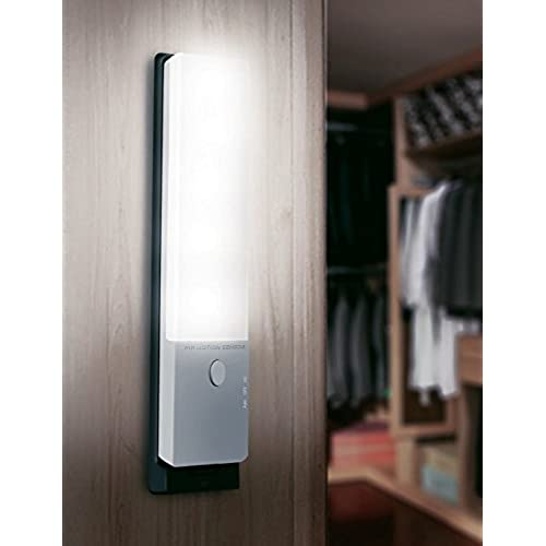 LEDemain Stick On Anywhere Motion Sensor LED Night Light, Built In  Rechargeable Battery Powered Portable PIR Emergency Light For Closet  Cabinet Wardrobe ...