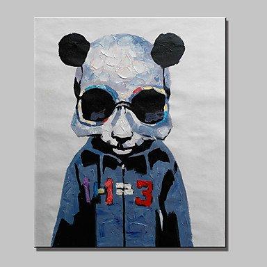 HY&GG Hand-Painted Abstrakt Tier Panda Moderne Schafe Ölgemälde, Leinwand Ein Panel Fertig Zum Aufhängen, 16