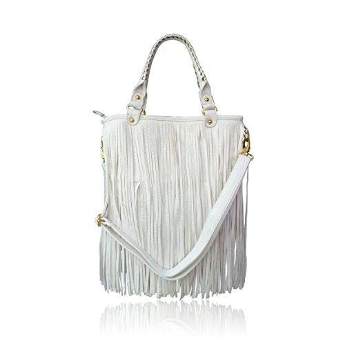 LYDC, Borsa a spalla donna bianco White LYDC Tassle Bag Width = 38cm, Height = 27cm, Depth = 10cm. White LYDC Tassle Bag