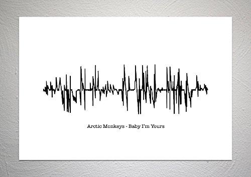Funky Art Prints Arctic Monkeys - Póster con texto segunda mano  Se entrega en toda España
