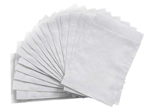 100 kleine weiße Papiertüten Flachbeutel Kraftpapier mit 13 x 18 + 2 cm (Lasche) Verpackung Gast-Geschenke, Mitgebsel, give-aways als Geschenktüten Geschenke, Mitbringsel, give-away, Geschenktüten (Papiertüte Basteln)