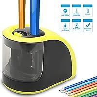 Ces schoolpro taille-crayons sont des ensembles de électroniques et fonctionne avec 4piles AA (les piles non incluses). Lorsque vous utiliser, veuillez maintenir le crayon taille-crayon fermement pour l'empêcher de se déplacer, ensuite insérez douce...