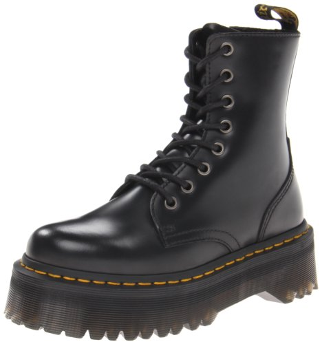 Dr. Martens Jadon Black Polished Smooth, Brogues Mixte Adulte
