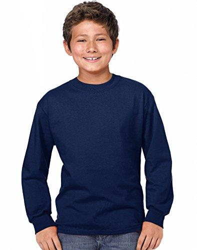 hanes-maglia-a-manica-lunga-asimmetrico-ragazzo-blu-navy-medium