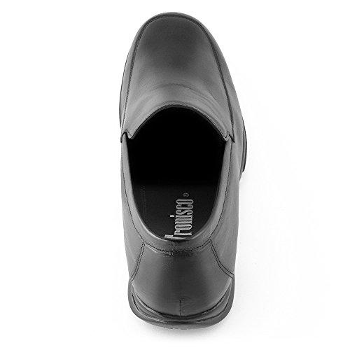 Masaltos - Chaussures rehaussantes pour homme. Jusqu'à 7 cm plus grand! Modèle Flex Nature A Noir