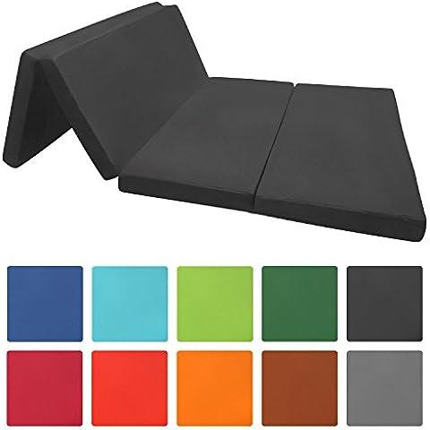 Beautissu® Materassino futon pieghevole per ospiti 195x120x7cm