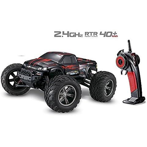 Metakoo RC Coche Radiocontrol Bateria 2WD de Alta Velocidad Escala 1:12 Juguete Electrico - Rojo
