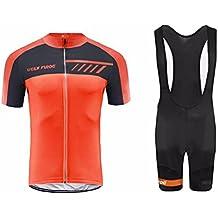 Uglyfrog #N03 Bike Wear Ciclismo Hombres Maillots Sports+Bib Tight Sets Seco y transpirable de Bicicleta Conjunto de Ropa de Ciclo Jersey de manga corta