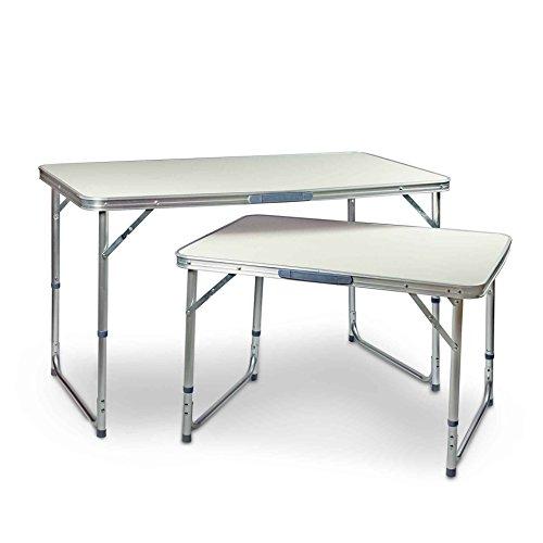 ESTEXO® Aluminium Campingtische mit MDF Tischplatten, Klapptisch, Gartentisch, Picknicktisch, Koffertisch, Tisch (60x110 cm) -