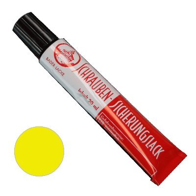 Preisvergleich Produktbild Schraubensicherungslack 20 ml. in Tube gelb - Sicherungslack - Schraubenkleber