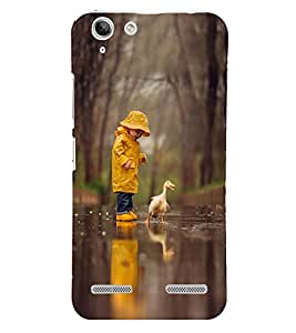 Takkloo cute kid kid playing with duck,kid wearing yellow cap, beautiful view) Printed Designer Back Case Cover for Lenovo Vibe K5 Plus :: Lenovo Vibe K5 Plus A6020a46 :: Lenovo Vibe K5 Plus Lemon 3