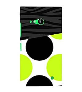 Green Black Combo Design 3D Hard Polycarbonate Designer Back Case Cover for Nokia Lumia 730 :: Microsoft Lumia 730 :: Microsoft Lumia 735