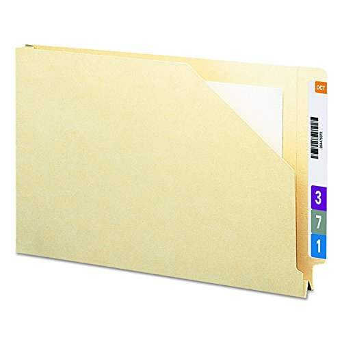 Datei-jacke Tab End (SMEAD Ende Tab Datei Jacke, shelf-master ® verstärkte gerade geschnittene Tab, 1–Größe 1/5,1cm Expansion, Legal, Manila, 50pro Box (Softbälle))