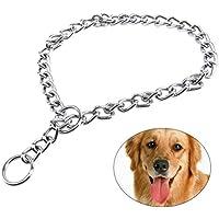 UEETEK Collar de perro de mascota de collar de estrangulación de perro de entrenamiento de cadena de acero inoxidable extra pesado con enlace 2.0mm * 45cm