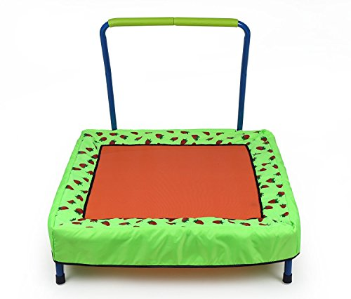 HLC Trampoline Enfant Pliable 86*86*79cm Rectangle à Dessin