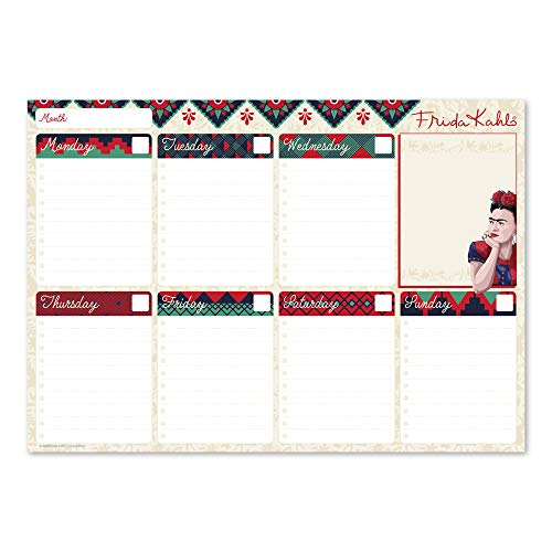 Erik BPSA40011 Weekly Planner da Scrivania - Frida Kahlo Collection