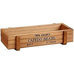 Gosear-Retro madera multifuncional mostrador caja para la decoración de flores plantas escritorio organizador Inicio