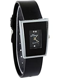 Briota New Fashion Black Dial Color With Black Color Strap Analogue Watch For Girls