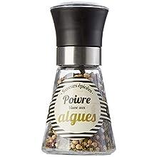 DV FRANCE - Poivre Blanc aux Algues - Saveur Épicées - Dans un Moulin Noir 40 G